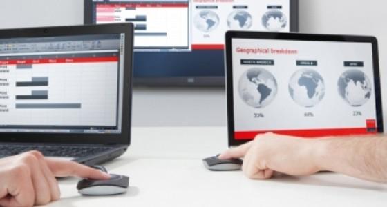 ClickShare da Barco, é uma das ferramentas colaborativas mais utilizadas no mercado Corporativo.