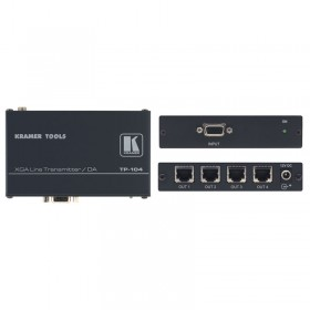 Transmissor Distribuidor VGA no CAT5 1x4 Kramer TP-104HD